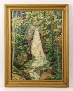 Little, California Cascade, Oil Painting