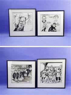 Paul Szep Original Pen and Ink Cartoons