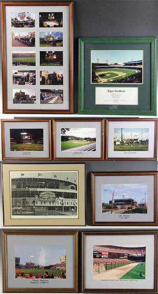 Photos and Etching of Baseball Stadiums
