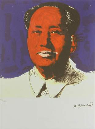 Andy Warhol Print of Mao