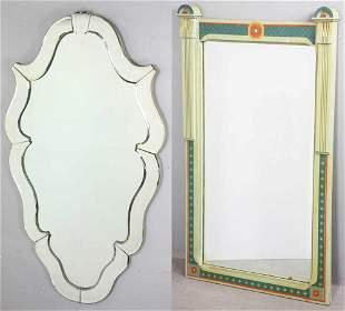 Hollywood Regency Beveled Mirror, Victorian Mirror