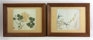 Two Chinese Watercolor Paintings