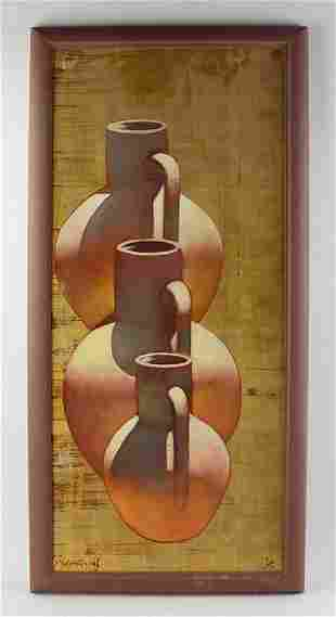 Michael W Huggins, Still Life, Oil on Board
