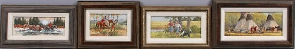 2012: Ron Stewart (American, 1941-), set of four (4) wa