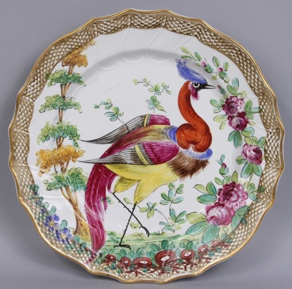 2013: Circa 1880 English porcelain plate