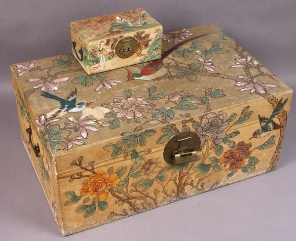 2014: Contemporary oriental painted chest