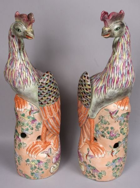2016: Pair of Oriental porcelain phoenixes