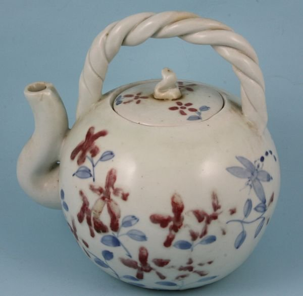 2216: Antique Korean porcelain teapot