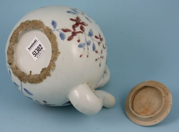 2216: Antique Korean porcelain teapot - 2