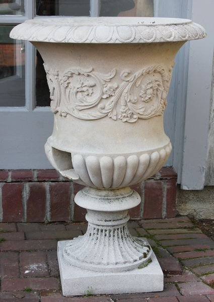 2008: Pair of classical cement urns