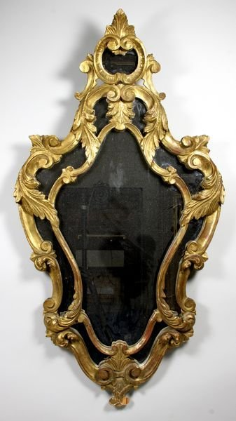 2018: 20th C. continental gilt wood mirror