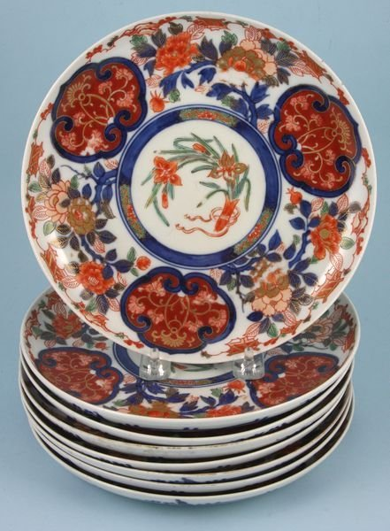 2019: Set 8 19th C. Japanese Imari plates