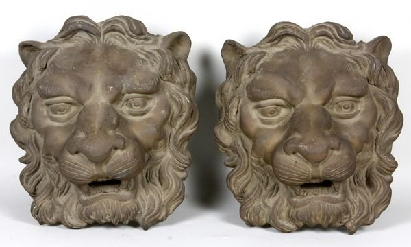 2020: Pair of late 19th/early 20th C. bronze lions,