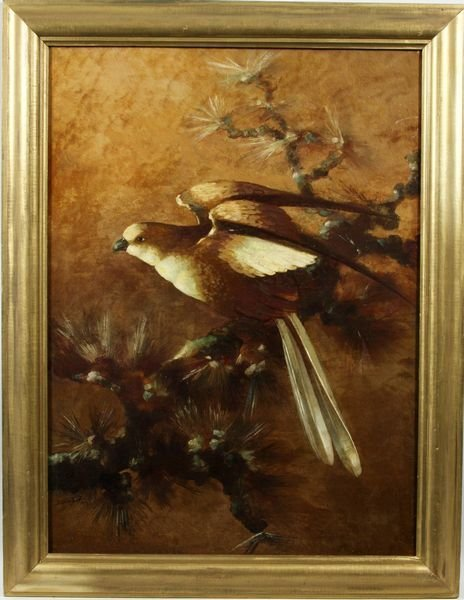 2021: L. Edna Martin, dove on a branch, O/C