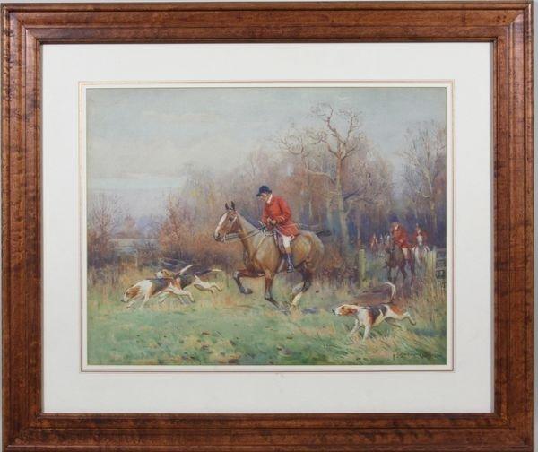3017: John Sanderson Wells, Hunting Scene, W/C
