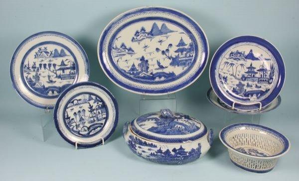 3008: Seven (7) Pieces of 19th C. Canton Porcelain