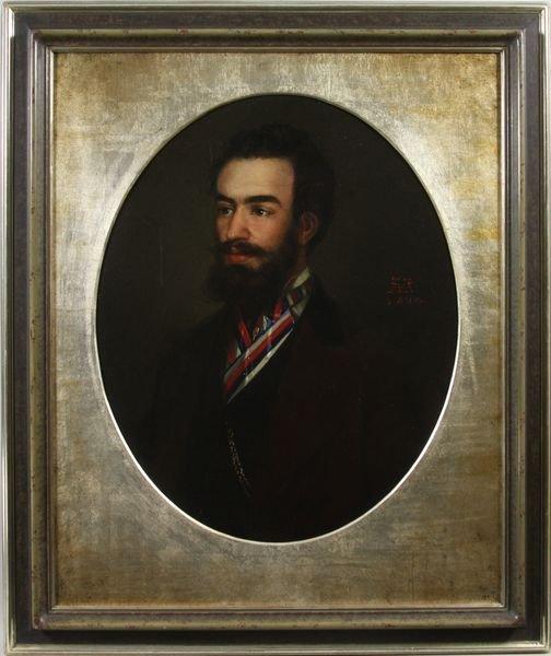 3009: 19th C. Portrait of a Gentleman, O/C