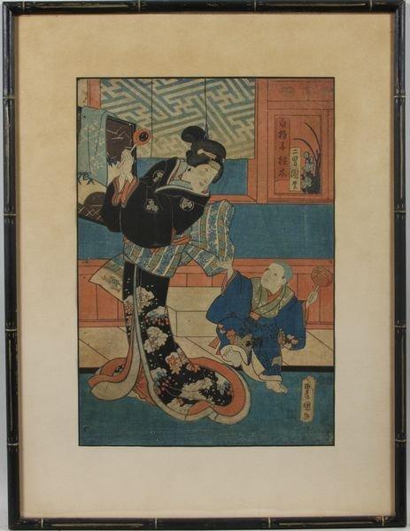 3011: 19th C. Japanese Woodblock Print