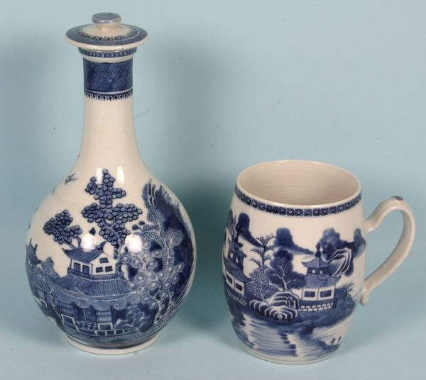 3020: Two (2) Pieces of 19th C. Chinese Export Porcelai