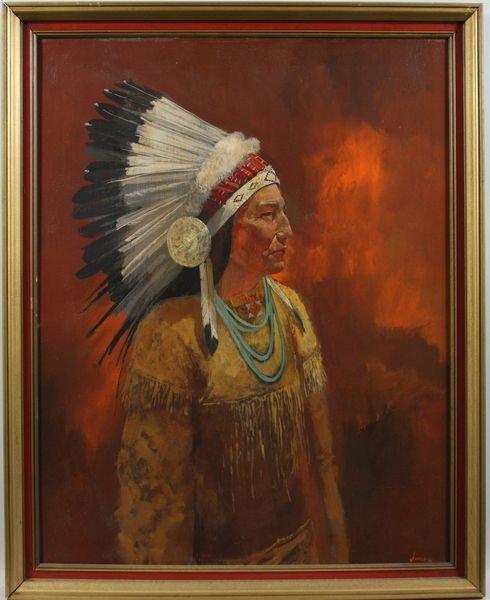 "4025: Scott Duncan, ""Indian Chief"", O/C"