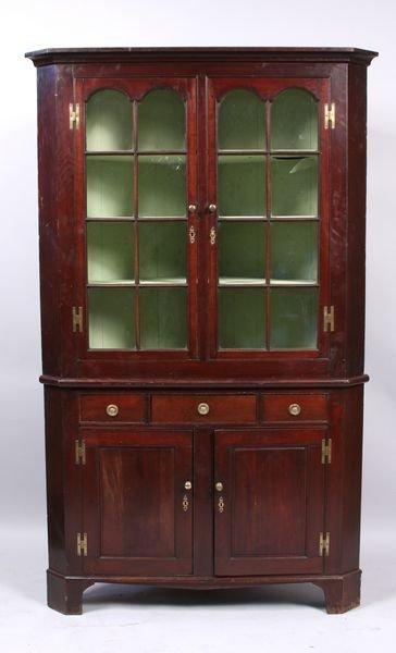 4091: Late 18th/Early 19th C. Corner Hutch/Cabinet
