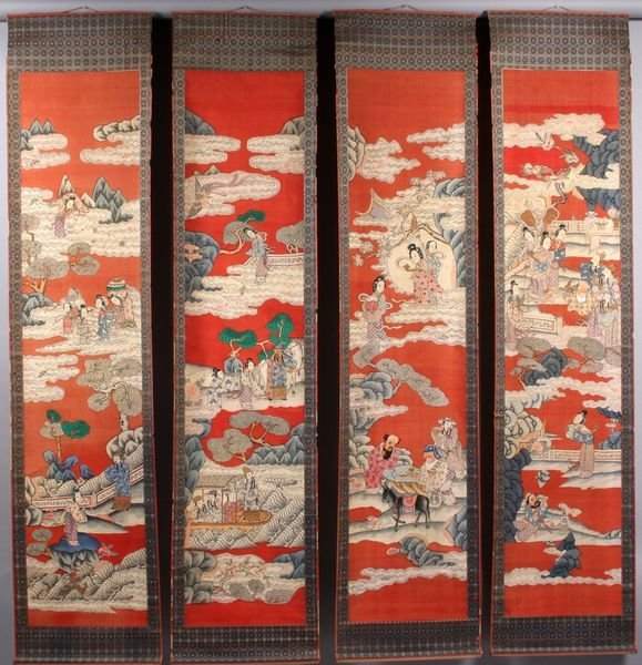 4356: Four (4) Late 19th C. Chinese Paintings on Silk