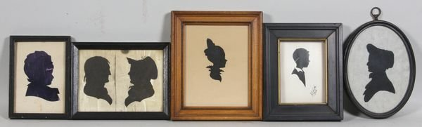4002: Collection of Five (5) 19th and 20th C. Silhouett