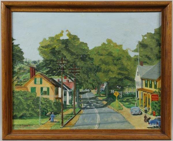 4004: L. Elwell, Essex, MA Street Scene, O/B