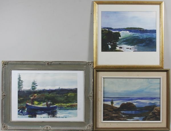 4011: Lot of Three (3) Watercolor Paintings by Isabel B