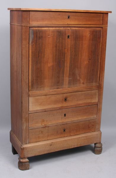 4019: 19th C. Continental Tall Fall-Front Desk