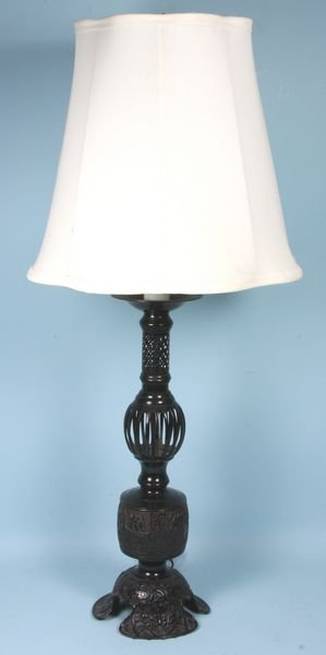 4024: Cast Metal Lamp with Shade