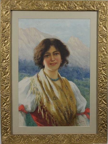 4393: Romala Tessari, Portrait of a Young Italian Girl,