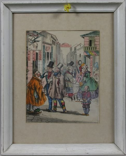 4001: 19th Century Hand Colored Engraving