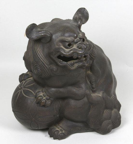 5016: Late 19th C. Bizen ware Lion