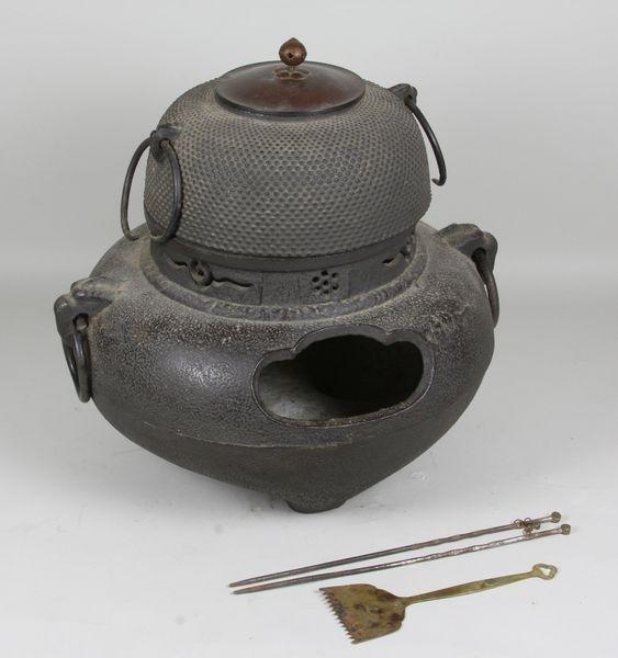 5019: Early 20th C. Cast Iron Hibachi