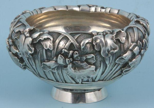 5006: Japanese Sterling 'Iris' Bowl