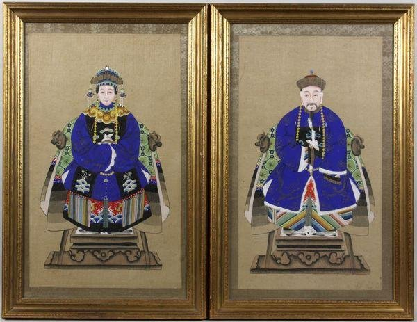5022: Two (2) Early 20th C. Chinese Paintings on Fabric