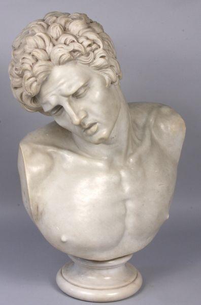 """6156: Antonio Frilli, """"Busto di un Giovane"""""""