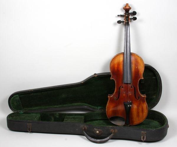 6264: 1920s/30s John Juzek Violin