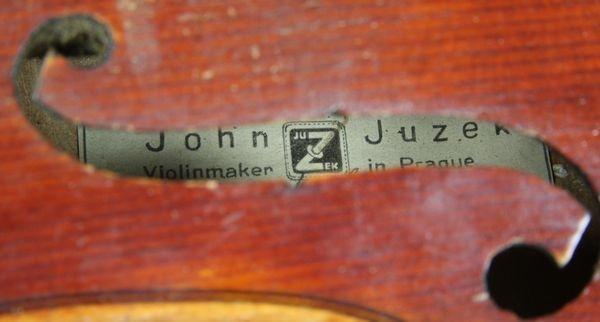 6264: 1920s/30s John Juzek Violin - 6
