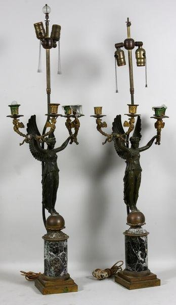 6323: Pair of Early 20th C. Lamps