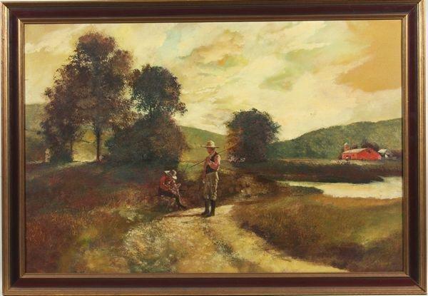 6011: Scott Duncan, Farm Scene, O/C