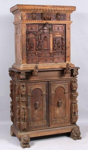 6021: 15th/16th C. Walnut Monk's Desk