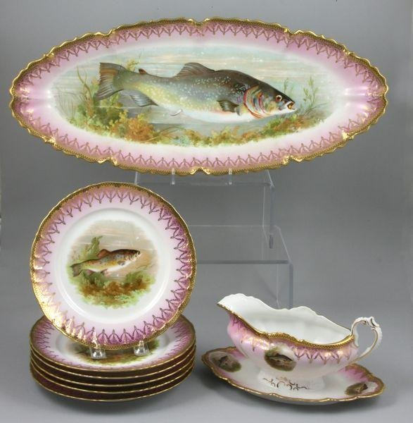 6010: Eight (8) Piece MZ Austria Fish Set