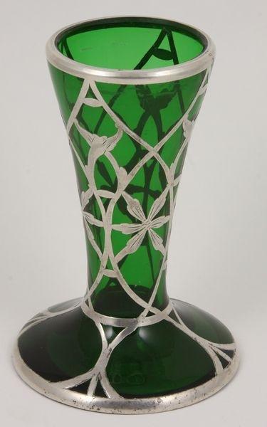6013: Silver Overlay Vase