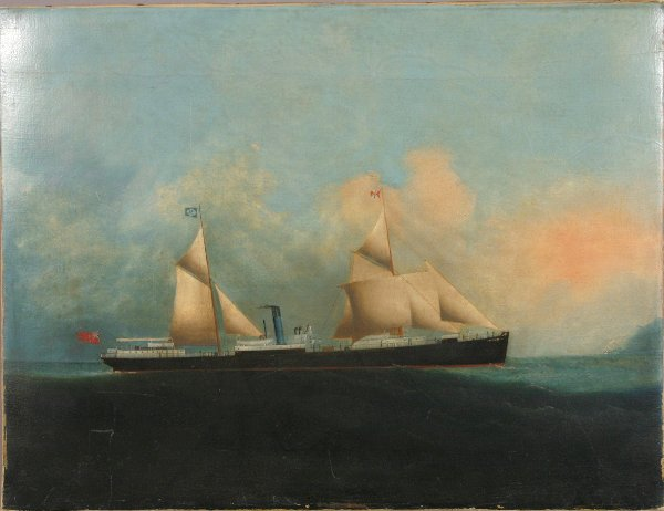 11: 19TH CENTURY ENGLISH OIL ON CANVAS OF S.S.PRIAM
