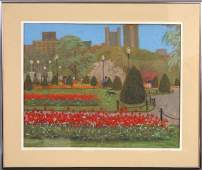 199: SIGNED JOAN KERRY PASTEL CENTRAL PARK