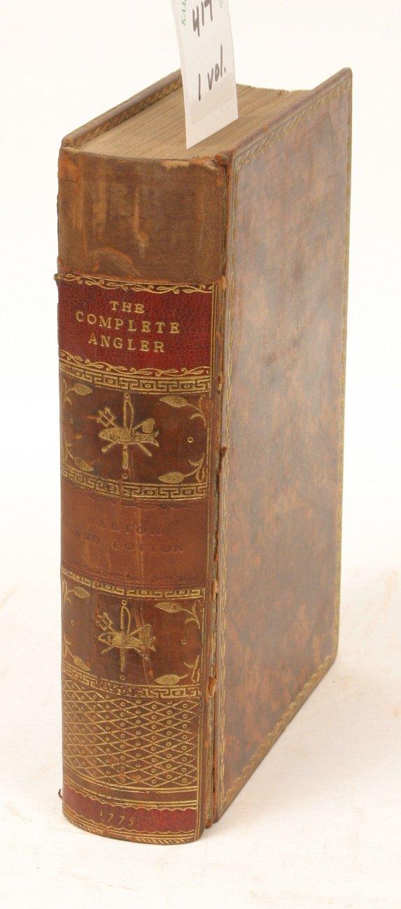 1417: WALTON, THE COMPLETE ANGLER, RIVINGTON 1774 3RD E