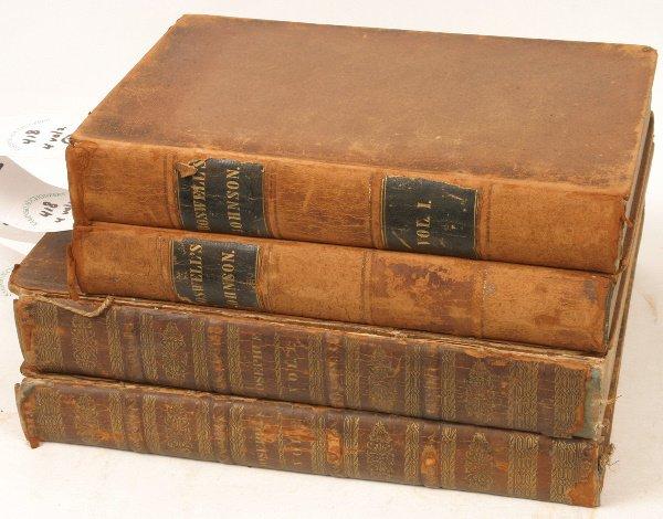 1418: EARLY 19TH C  SAMUEL JOHNSON AND FLAVIUS JOSEPHUS
