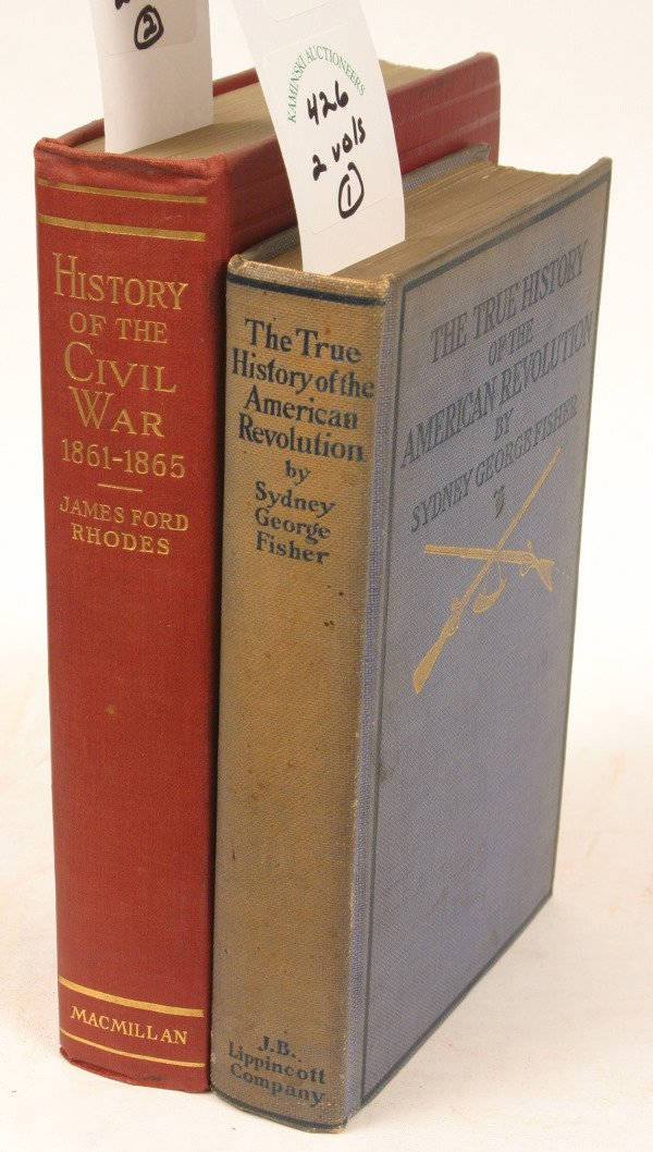 1426: HISTORY OF REVOLUTIONARY & CIVIL WAR'S (2) BOOKS